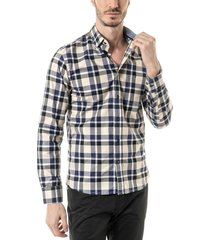 camisa beige toche escoces