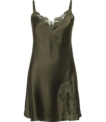 slip with lace nachthemd groen lady avenue