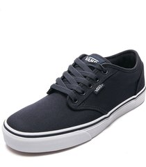 tenis skateboarding azul navy-blanco vans atwood