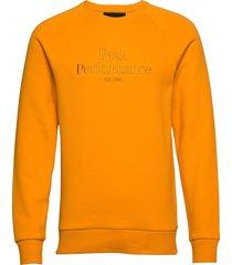 m original crew sweat-shirt tröja orange peak performance