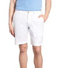 men's tommy bahama beach linen blend shorts, size 34 - white
