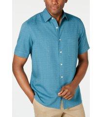 tasso elba men's textured silk blend shirt, created for macy's