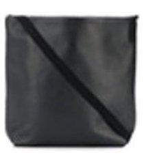 ann demeulemeester bolsa tiracolo mini de couro - preto