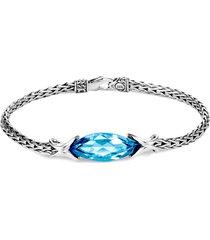 'asli classic chain' topaz silver chain bracelet