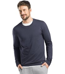 hanro heren sleep & lounge living leisure sweatshirt blauw