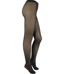 wolford women's trinity check tights - gobi black - size s