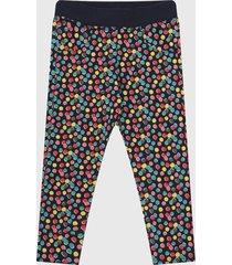 pantalón azul-multicolor boboli