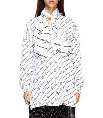 versace shirt versace silk shirt with all over signature and maxi scarf