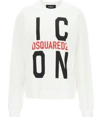 dsquared2 icon print sweatshirt