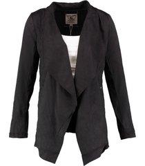 garcia zwart suèdelook blazer jasje