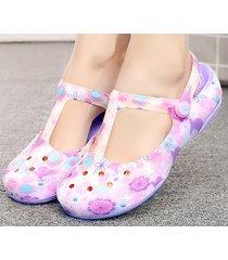 sandalias planas antideslizantes para mujer verano-violeta