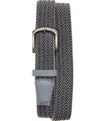 men's cuater by travismathew central woven belt, size medium - light grey