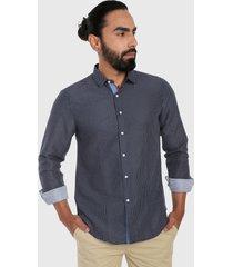 camisa azul oscuro-blanco urban tokyo