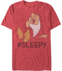 disney men's snow white sleepy short sleeve t-shirt