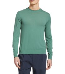 men's theory regal crewneck sweater, size x-small - green