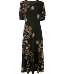 alcaçuz rana knit maxi dress - black