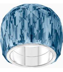 anello swarovski nirvana, azzurro, acciaio inossidabile