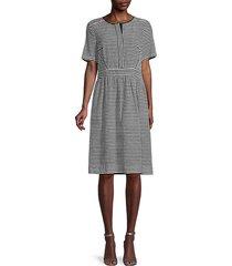 vivienne striped sheath dress