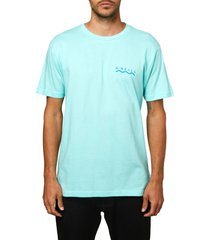 men's o'neill spotless logo graphic tee, size medium - blue/green