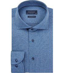 profuomo overhemd blauw knitted jersey