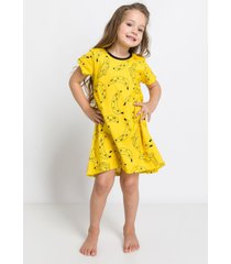 pijama e camisola acuo pijama e camisola amarelo - amarelo - menina - dafiti