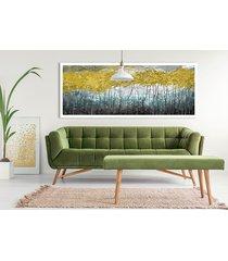 obraz na płotnie pejzaż, las, drzewa- 150x60cm