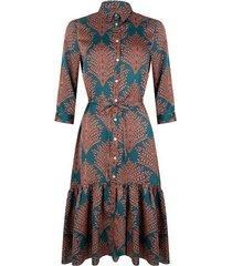 esqualo jurk long fern print