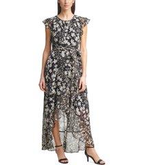 jessica howard petite printed chiffon maxi dress