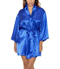 icollection plus size ultra soft satin lounge and poolside robe