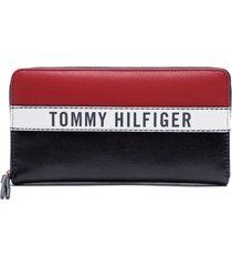 billetera lg zip wallet multicolor tommy hilfiger
