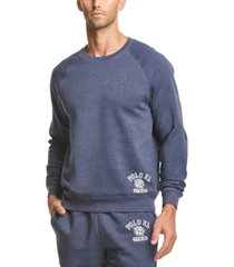 polo ralph lauren men's brushed fleece sleep shirt