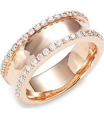 18k rose gold & diamond ring