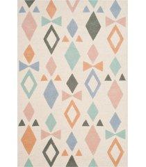 "safavieh kid's bowtie hand-tufted wool area rug - ivory - size 48""w x 72""l"