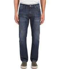 men's mavi jeans zach straight leg jeans, size 34 x 32 - blue