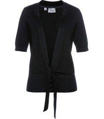 cardigan corto con fiocco (nero) - bpc selection
