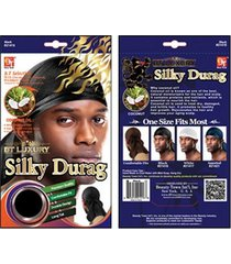 beauty town brand silky durag hip hop bandana biker head wrap skullcap doo rag