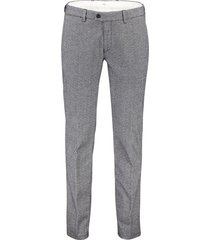 brax flatfront pantalon modern fit grijs print