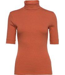 dhzoe rollneck blouse t-shirts & tops knitted t-shirts/tops orange denim hunter