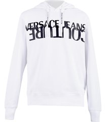 versace jeans couture printed hoodie