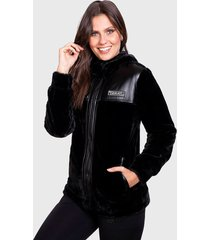 chaqueta everlast film negro - calce regular