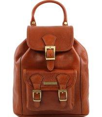 tuscany leather tl141342 kobe - zaino in pelle miele