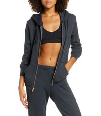 women's aviator nation bolt zip hoodie, size x-small - grey