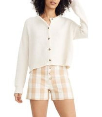 women's madewell deville cardigan sweater, size xx-small - white