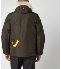 parajumpers men's right hand fur hooded parka - sycamore - s