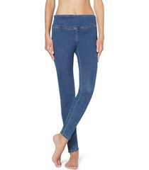 calzedonia - leggings jeans skinny, xs, blue, women