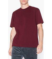 topman burgundy oversize t-shirt t-shirts & linnen burgundy
