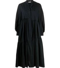 dorothee schumacher oversized poplin power dress - black