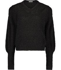 gebreide trui met pofmouwen mascha  zwart