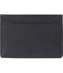 a.p.c. andre saffiano leather card holder