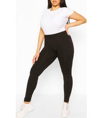 plus supersoft fleece lined leggings, black